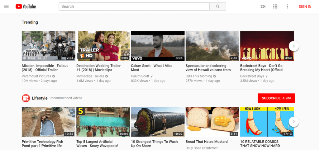 YouTube is a well-known, free video hosting site