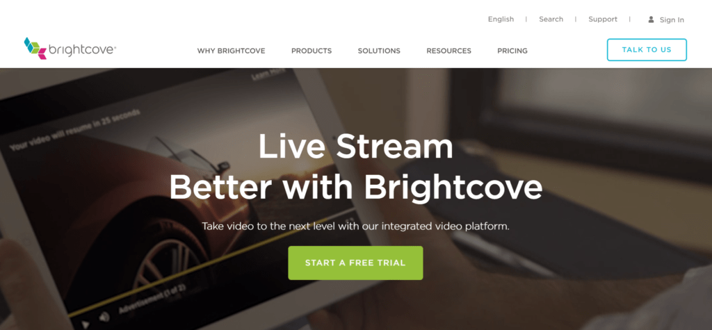 Brightcove video hosting offers fully customizable solutions
