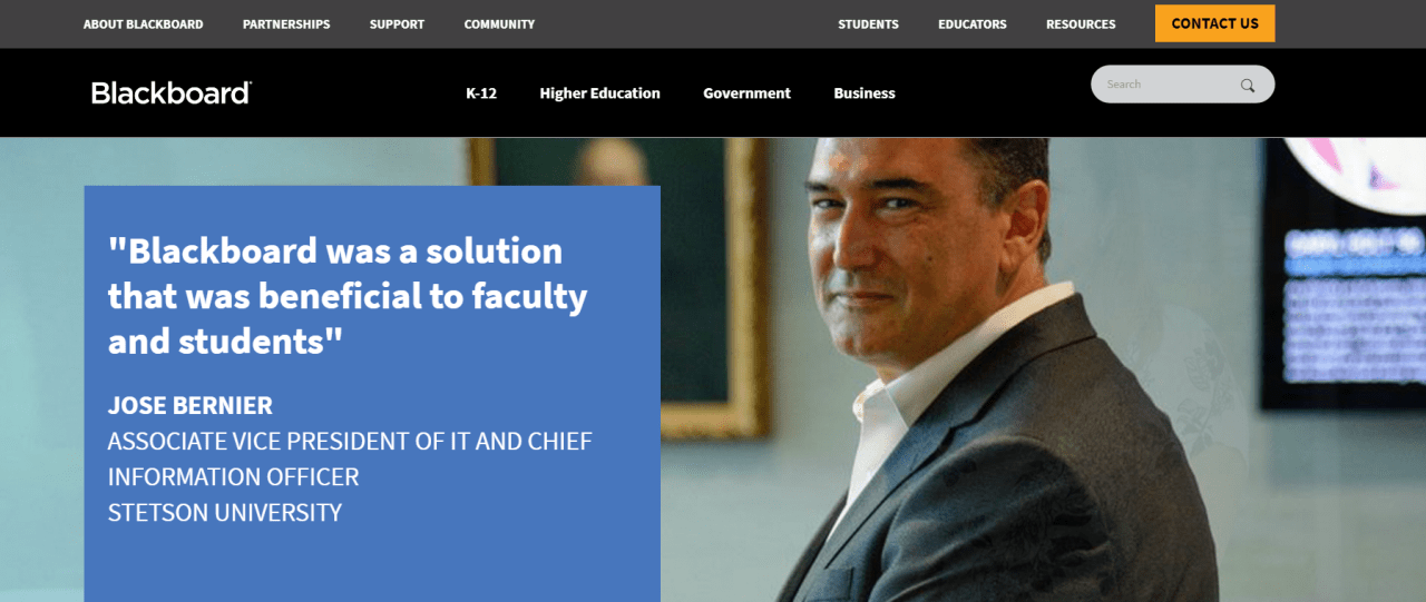 Blackboard is an all-round LMS solution