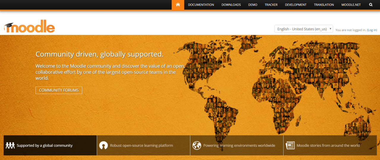Moodle is one of the most popular, open-source LMS