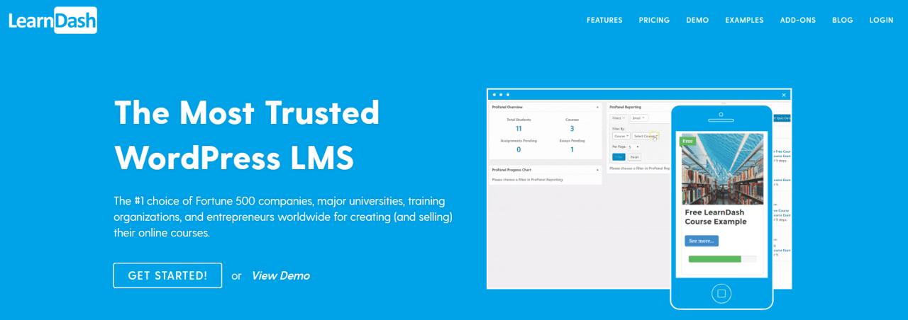 LearnDash is a WordPress-based LMS