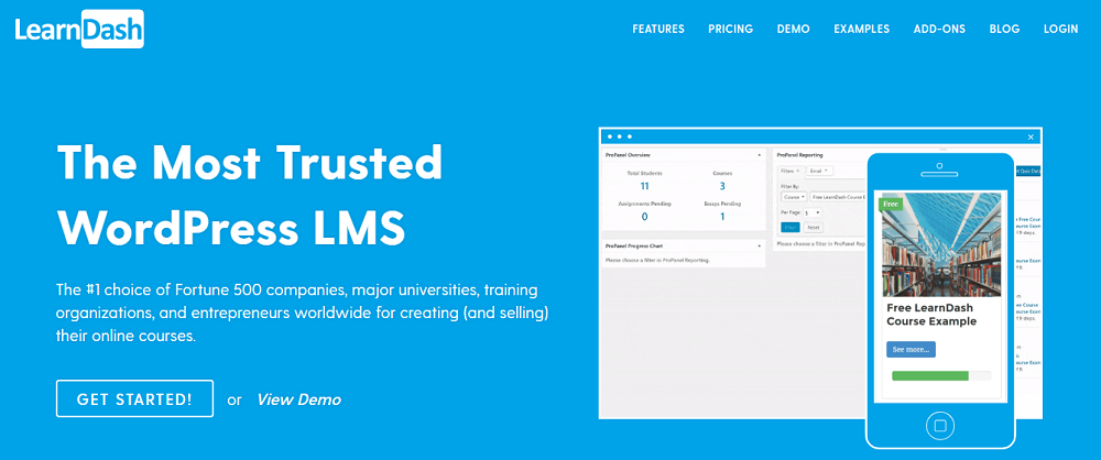 LearnDash is perhaps the most popular LMS plugin for WordPress that's used by entrepreneurs, universities,