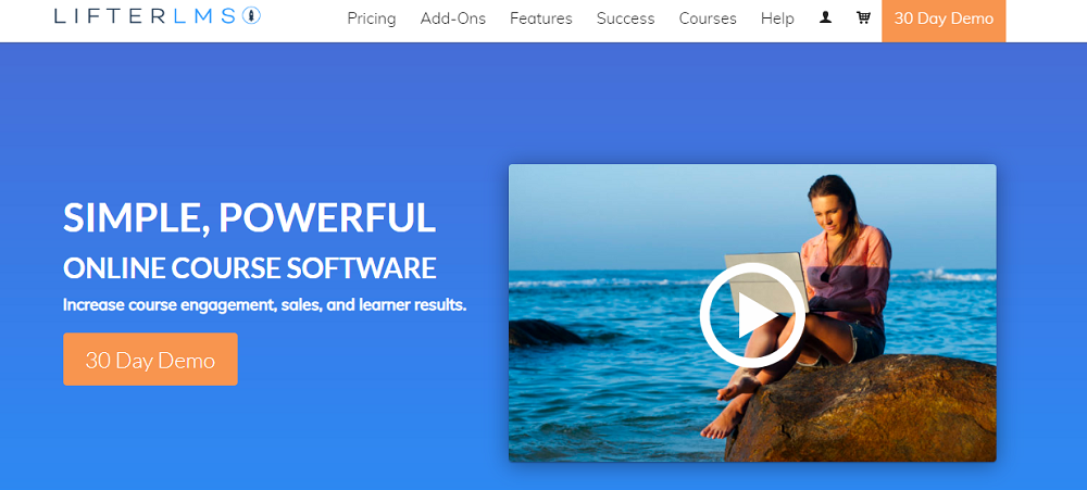 LifterLMS is a simple yet powerful online learning software that enables online course
