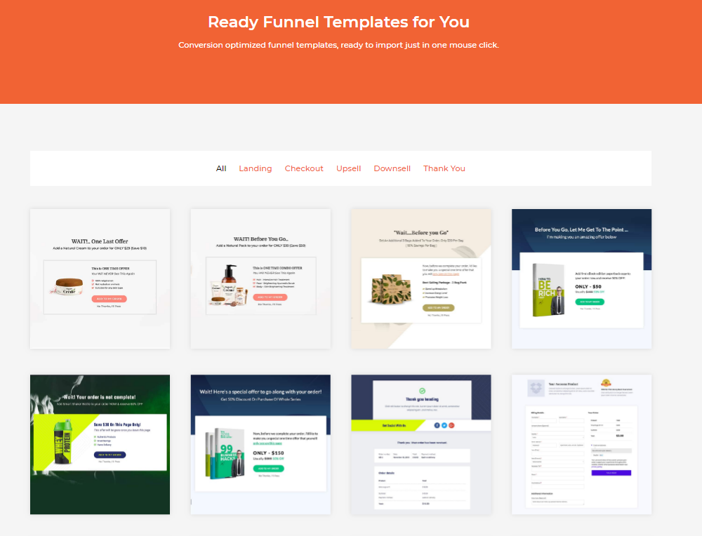 With CartFlows, you can design your own checkout and landing pages or simply