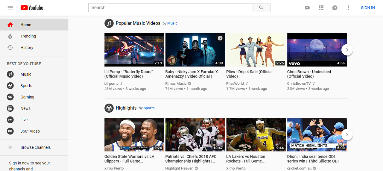 YouTube is easily the most popular video hosting site in the world