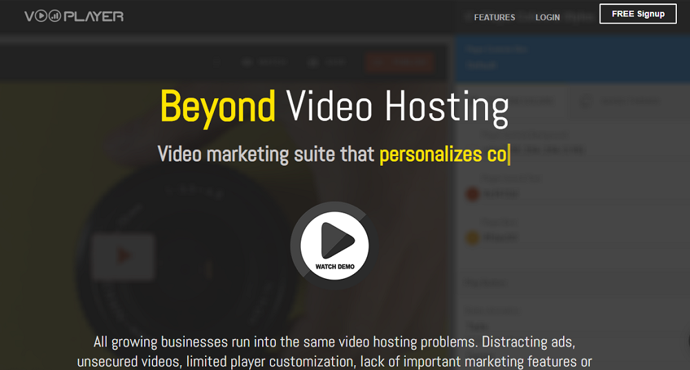 vooPlayer is a video hosting solution that focuses on delivering fast and reliable video hosting experiences.