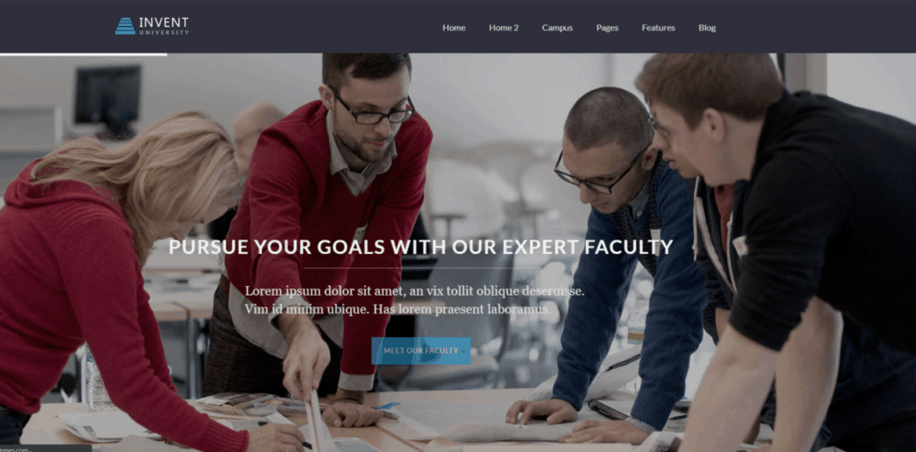 Invent is another feature-rich WordPress eLearning theme