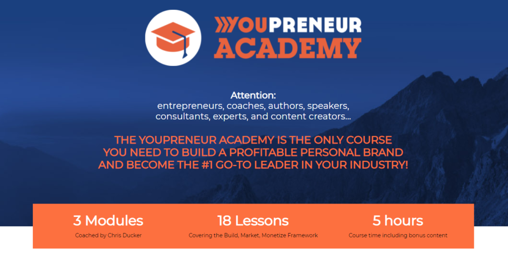 Youpreneur is a membership site that offers entrepreneurs a solution