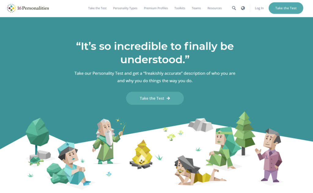 16Personaliities offers a solution that lets users discover their personality